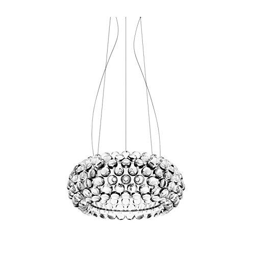 Foscarini Caboche suspension transparente - LED, Medias, 2 metri