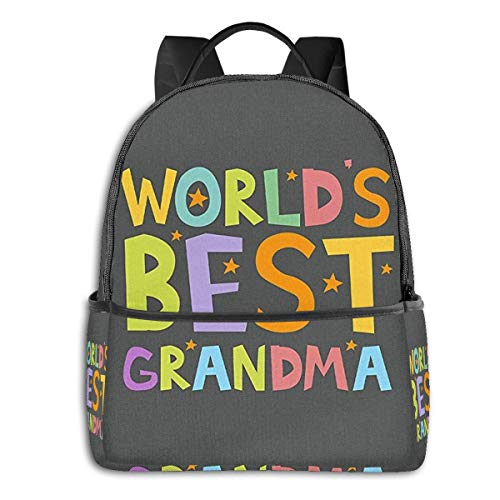 BEST GRANDMA Fashion Leisure Backpack For Girls And Boys, College Student School Laptop Daypack Teen Lightweight Casual Bookbags, High Capacity Travel Bag