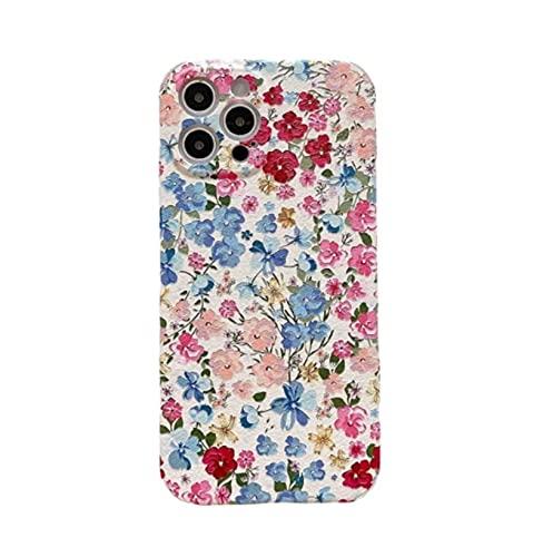YLFC Funda De Teléfono Retro para iPhone Carcasa Suave con Diseño De Sakura Arte Pintura Al Óleo para iPhone 12 11 Pro MAX XR XS MAX 7 8 Plus X 7Plus (Color : A, Size : For iPhone 11)