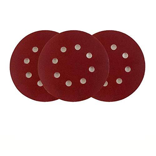 GPOKD Schleifblätter - 20 Stück 125 mm 8-Loch-Schleifscheibe zum Schleifen Polierpapier Schleifpapierscheibe Nr. 40 - Nr. 2000 Schleifwerkzeuge für Schleifkörner, 240