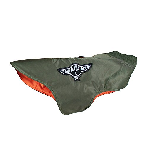 Alpha Industries Flight Jacket Nylon Dog olive, Größen + Aufschlag:XL
