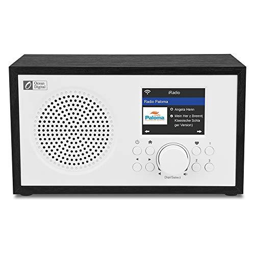 Ocean Digital Wi-Fi Internet radios WR100F FM Digital Radio with Bluetooth Speaker & Sleep Radio,...