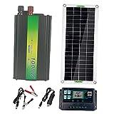 FLAMEER Kit de Panel Solar, Cargador Solar Portátil de 30 Vatios Y 220 Voltios con Enchufe para Encendedor de Cigarrillos para Automóvil, Motocicleta, Barco M - 100A