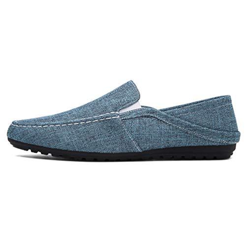 Hombres Mocasines Moda Lona Alpargatas Hombre Slip Casual En Zapatos D