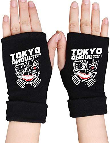 NXMRN Guantes sin dedos para hombre, guantes de anime, sin dedos, guantes...