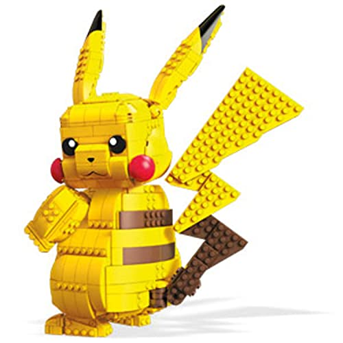 Mega Construx Pokemon Jumbo Pikachu Construction Set with character figures, Building Toys for Kids (825 Pieces) [Amazon Exclusive]