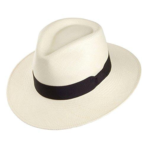 Village Hats Chapeau Fedora Panama Hamilton Naturel Whiteley - Large