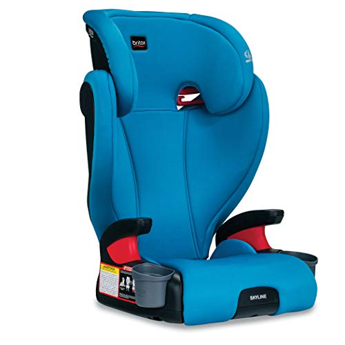 Britax Skyline 2-Stage Belt-Positioning Booster Car Seat - Highback and Backless | 2 Layer Impact Protection - 40 to 120 Pounds, Teal