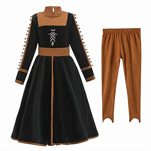 Rzf Kids Kostuum Jurk suède uniform doek comfortabel ademend Halloween Cosplay Queen Princess Dressup Fancy Dress Set 3-8 jaar