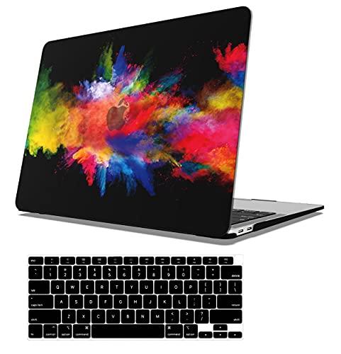 AOGGY MacBook Retina 30,5 cm (12 Zoll) Hülle (Modell A1534 A1931) Release-2015/2016/2017, ultradünn, seidig-glatter Kunststoff, Gummi, Kratzschutz + Tastatur-Abdeckung – bunt