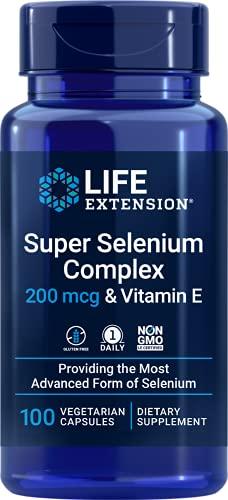 Life Extension, Super Selenium Complex, con Vitamina E, 200 mcg, 100 Capsule vegetariane, senza glutine