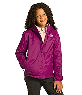 The North Face Girls Resolve Rain Jacket, Wild Aster Purple, S