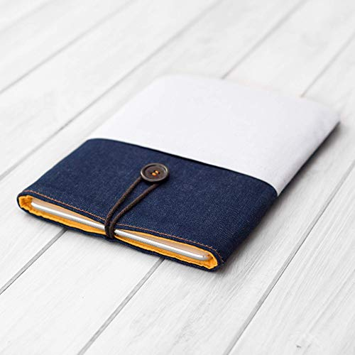 Artigianale Custodia Cover Rivestimento Copertina tessuto denim BLU per 10.2 iPad 2019 Pro Mini 4 5 Air 1 2 3 9.7 10.5 11 12.9 tablet