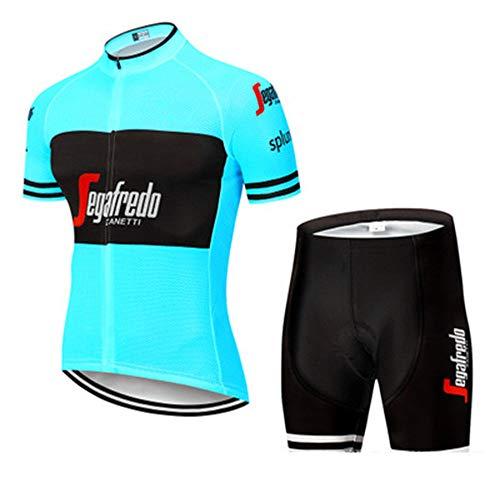YDJGY Conjunto Manga Corta Ciclismo Jersey,Set Ropa Bicicleta MontañA Transpirable Secado RáPido Para Hombres Verano