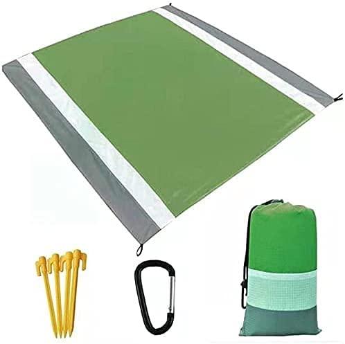 ZRDSZWZ Manta de picnic fiable para exteriores, gran humedad, portátil, con clavo fijo, 210 x 200 cm, manta de picnic plegable (color: rojo) (color: verde profundo)