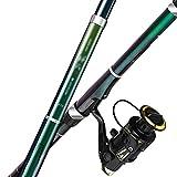 xilinshop Angelrutenstange Spinning Rolle und Angelrute Combos Teleskop-Angelfischerei-Kohlenstofffaser-Angelrute for Reise Salzwasser Süßwasserfischen Angelruten- und Rollen-Combos (Size : 3.0M)