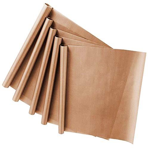 Backpapier Wiederverwendbar 5 Pack, Dauerbackfolie 40x33, Dauerbackfolie für Backofen, Wiederverwendbares Backpapier, Backfolie, Backmatte, Hitzeschutzleiste, Backfolie Zuschneidbar