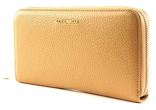 COCCINELLE Zip Around Wallet metálico con Zip Around Wallet suave Zip Around...