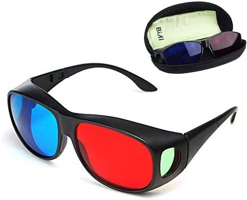 BIAL Red-Blue 3D Ranking TOP6 Glasses Cyan Anaglyph Direct stock discount 3 Style Simple
