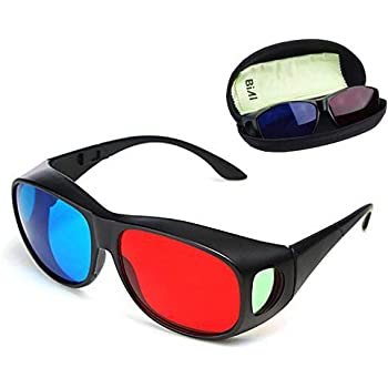 BIAL Red-Blue 3D Glasses/Cyan Anaglyph Simple Style 3D Glasses 3D Movie Game-Extra Upgrade Style
