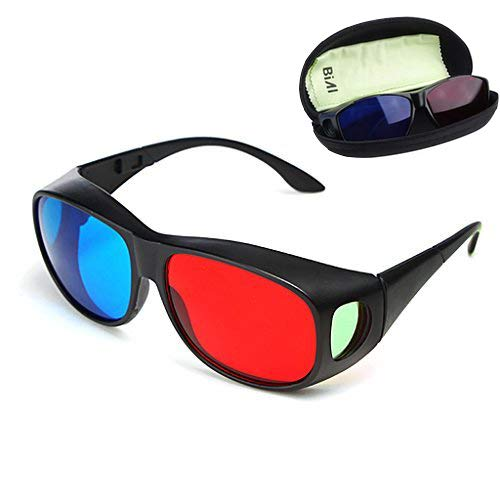 BIAL Red-Blue 3D Glasses/Cyan Anaglyph Simple Style 3D Glasses 3D...
