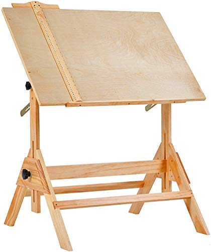 MEEDEN Solid Wood Drafting / Drawing Desk