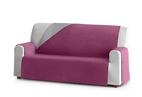 Eysa Oslo Funda, Poliéster, C/2 Fucsia-Gris, 3 plazas 160cm. Válido para sofá Desde 170 a 210cm