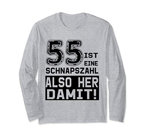 55. Geburtstag - 55 ist eine Schnapszahl, also her damit Langarmshirt