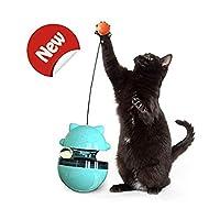キティエクササイズパズルおもちゃ猫インタラクティブおもちゃプレイIQボール 子猫猫ニップペット用品猫御 走スローフィーダーフードディスペンサー