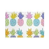Juego de 6 manteles individuales coloridos de piñas para mesa de comedor, lavables resistentes al calor (12 x 18 pulgadas)