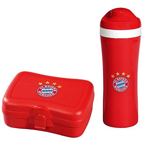 FC Bayern München Trinkflasche + Brotzeitbox 2er Set