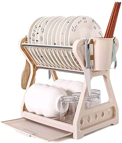 RUNESS Drying Rack Dishes Brand Cheap Sale Venue 2 Dish Tier wit Special Campaign