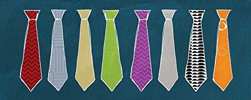 Feeling at Home Kunstdruck-auf-Papier-cm_28_X_70-Woods-Linda-Ferien-Bild-Poster-Gemetric-Krawatten-Vati-Vatertags-Windsor-Knot