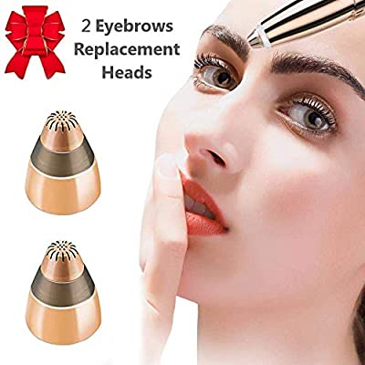 Eyebrow Hair Removal Replacement Heads,Brow Hair Remover Beauty Instrument Face Care for Women's Trimmer Shaper Epilator (2Pcs) by Superbeek