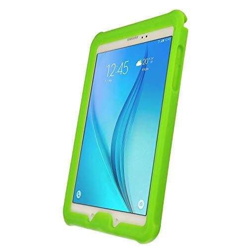 TECHGEAR Schutzhülle für Samsung Galaxy Tab A 9,7 (SM-T550 SM-T551 SM-T555), [Kinderfreundlich] Leichtes Koffer Silikon Soft Shell Anti-Rutsch-Shockproof Ecken + Displayschutzfolie. Grün