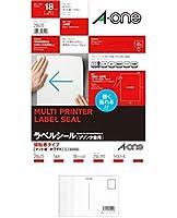 エーワン マルチプリンタラベル A4判強粘着タイプ 28415 【まとめ買い3パックセット】 + 画材屋ドットコム ポストカードA