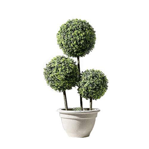 LXLTL Kunstmatige vorm bomen buxusboom, simulatie plant decoratie kleine potplanten kantoor woonkamer vloer groene plantendecoratie