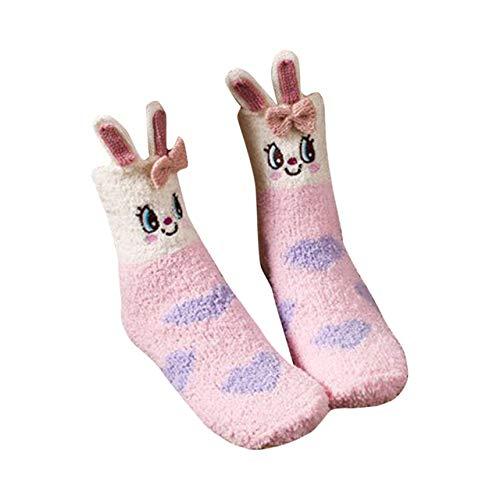 QZXCD Kerstkous voor dames en wintersokken van karton, verdikte sokken voor de winter, 1 paar F