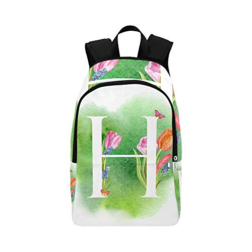 Best College Bags Letter H Environmental Health Design Durable Water Resistant Classic Toiletry Travel Bag for Women College Lunch Bag School Bag for Men Hiking Backpack Women