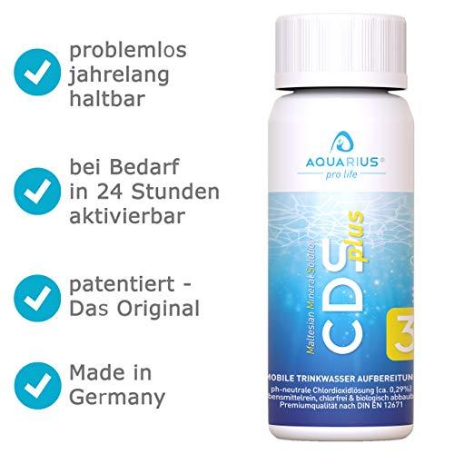 AQUARIUS pro life ® - CDSplus 100 ml - patentierte Chlordioxid Lösung I Konformität vom TÜV Rheinland bestätigt I CDL Tropfen I Chlorine Dioxide Solution I auf Wunsch aktivierbar I Das Original