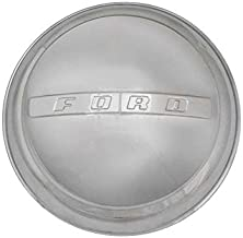 MACs Auto Parts 48-17078 Pickup Truck Hub Cap - Stainless Steel - Raised CenterBar With Lettering - F1 & F100