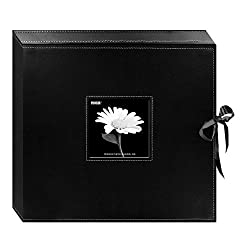 "powerful Pioneer Leatherette Album Box 12 x 12"", with D-ring, black"