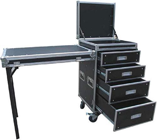 TEGO PRO 103732 Pultcase Schubladencase DR-10 mit Tisch & Rollen 53 x 58,5 x 101,5 cm Transportcase Schubladen Container