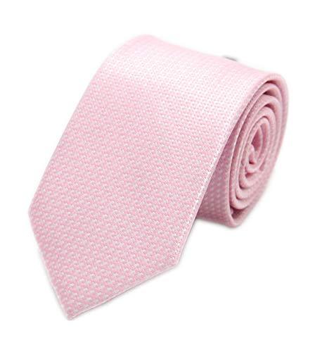 Herren Moderner, fein gestreift, schlanke Krawatte, gewebt, formelle Business-Anzug, schmale Kragen - Pink - Einheitsgröße