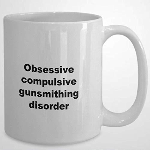 N\A Taza de café con Trastorno Obsesivo Compulsivo de la herrería, Taza de cerámica de 11 oz, Taza de té para Bebidas para el hogar y la Oficina, cumpleaños, Aniversario, Halloween