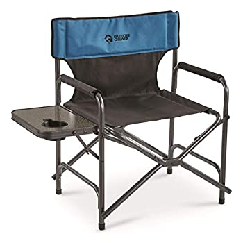 Guide Gear Oversized Director s Camp Chair 500-lb Capacity Blue/Black