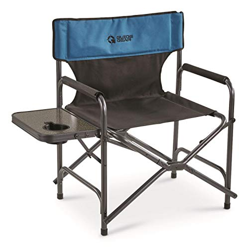 Guide Gear Oversized Director#039s Camp Chair 500lb Capacity Blue/Black