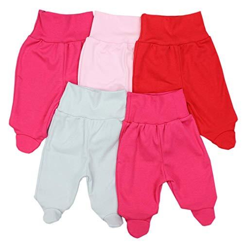 TupTam TupTam Unisex Baby Strampelhose mit Fuß 5er Pack, Farbe: Mädchen 2, Größe: 56