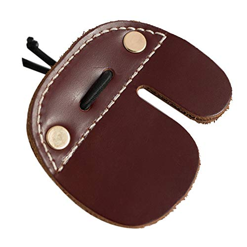 Haplws Cow Leather Archery Finger Tab Guards for Recurve Bows Shooting Hunting Right Finger Protector Guard Archery Finger Tabs