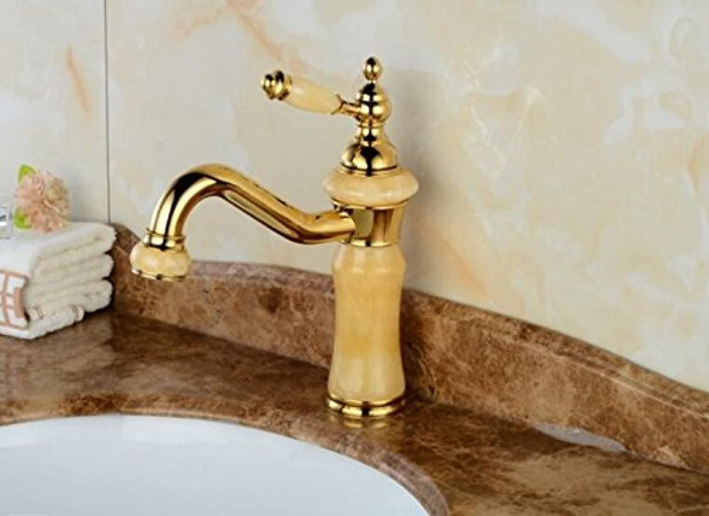 Makej Mixer Faucet Basin Faucets Retro Brass Mixers Luxury Bathroom Sink Mixer Tap Washroom Natural Water Taps